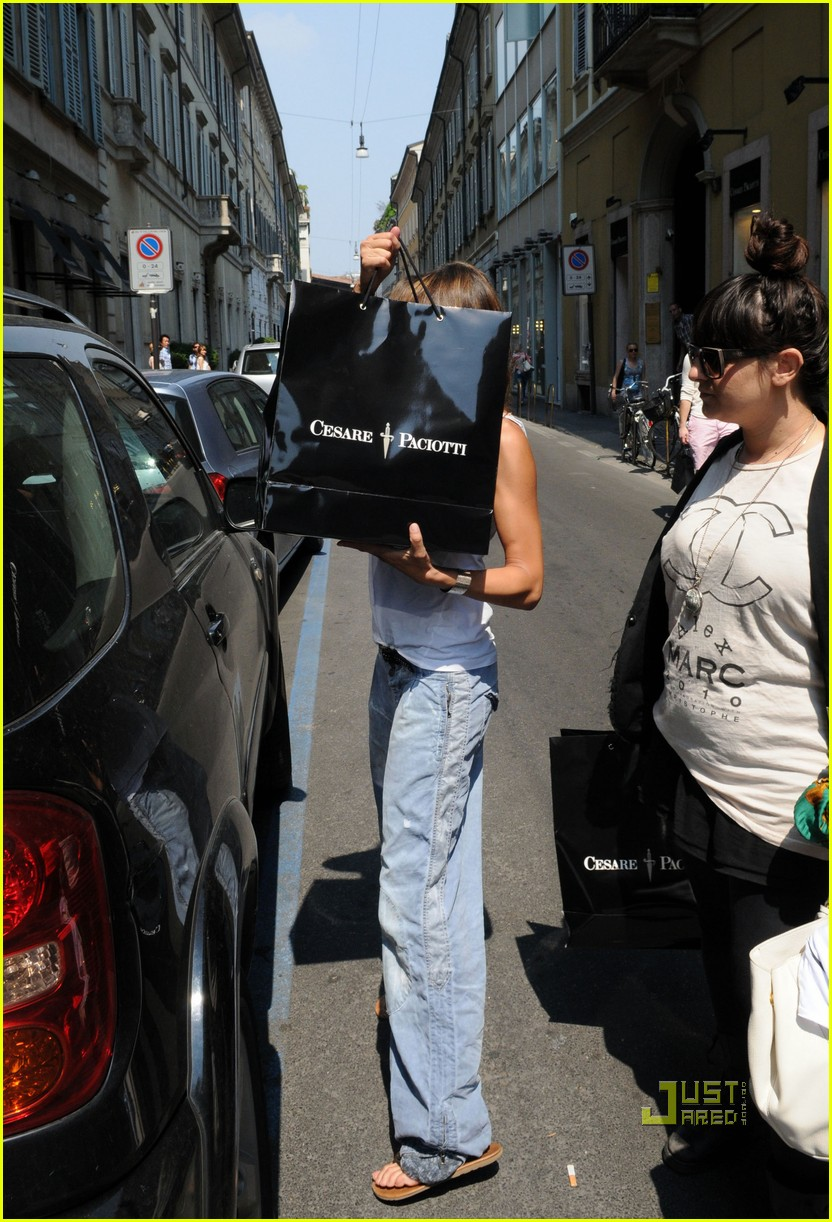 Full Sized Photo of elisabetta canalis prada shoe shopping milan ...