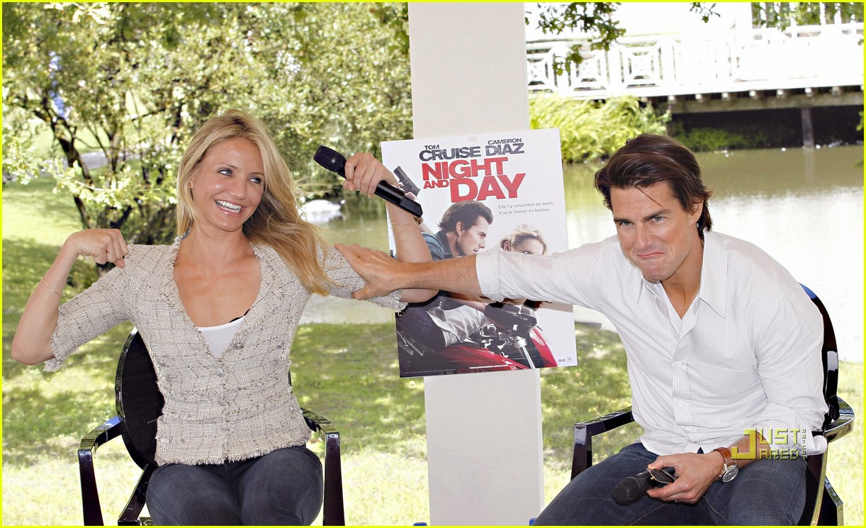 tom cruise cameron diaz martillac france press conference 14