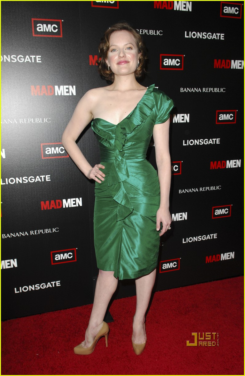 christina hendricks elisabeth moss vincent kartheiser mad men season 4 premiere 04