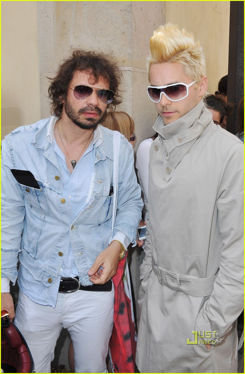 jared leto blonde mowhawk christian dior 02
