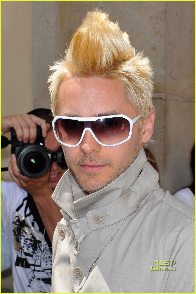 jared leto blonde mowhawk christian dior 05