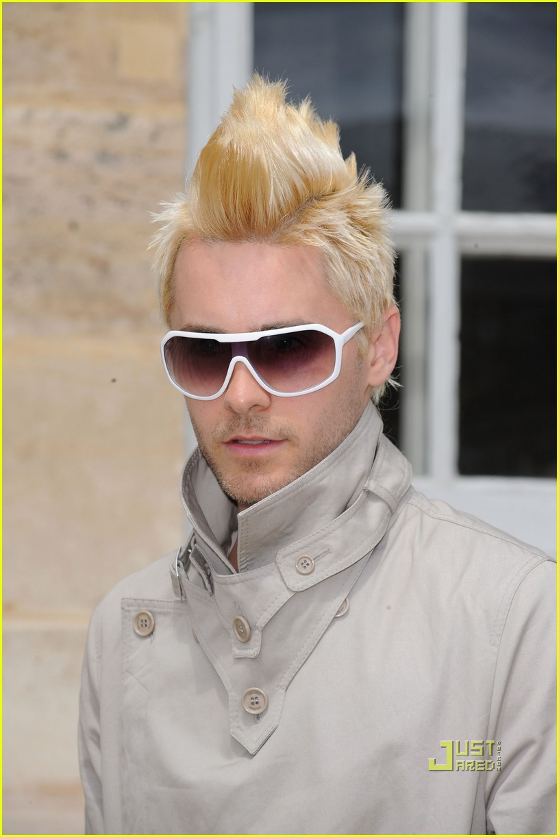 jared leto blonde mowhawk christian dior 11