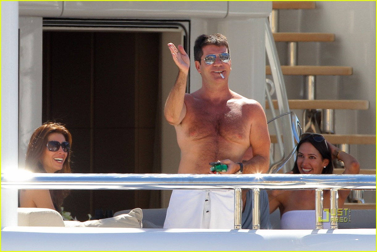 simon cowell chest hair 212471883