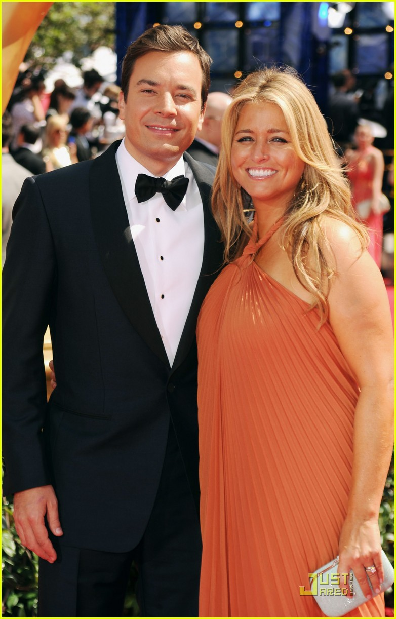 jimmy fallon 2010 emmys red carpet 112476062
