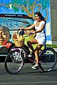 lea michele mark salling biking and boarding 04