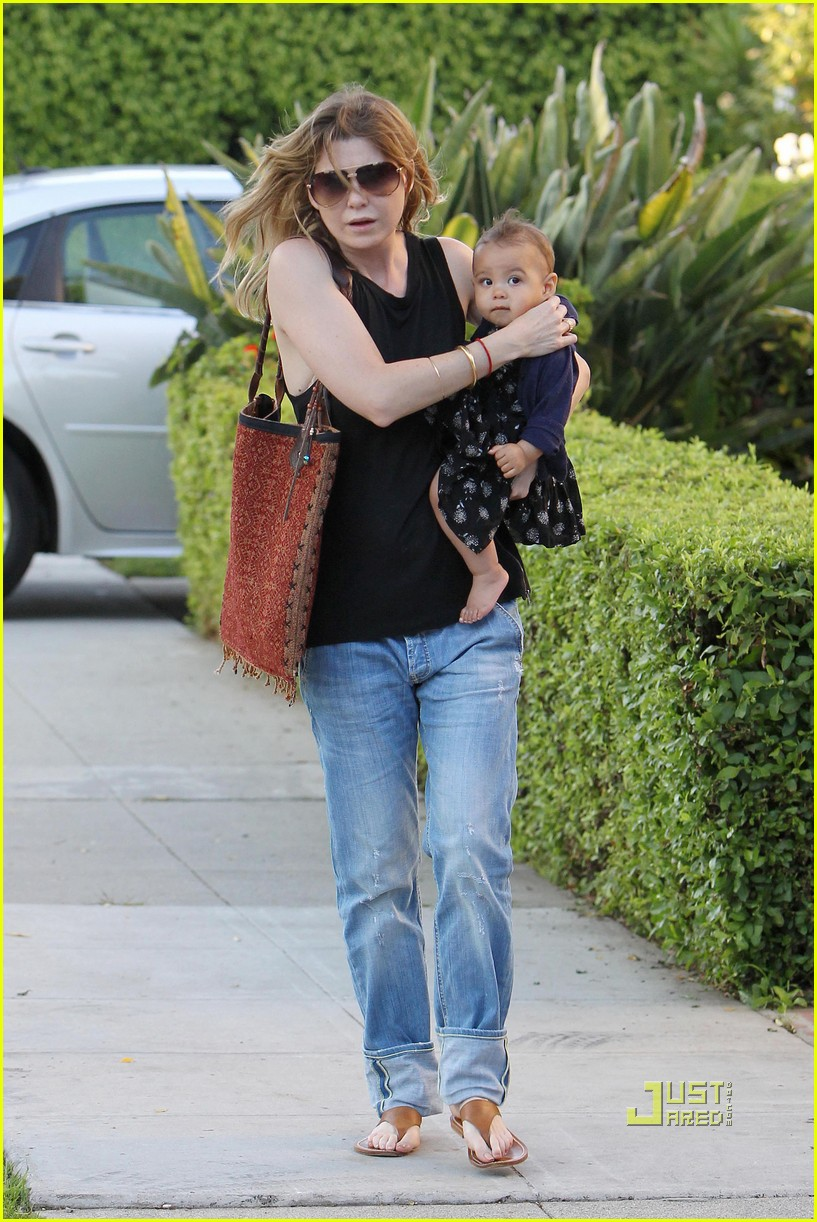 ellen pompeo chris ivery happy family with stella 072472218