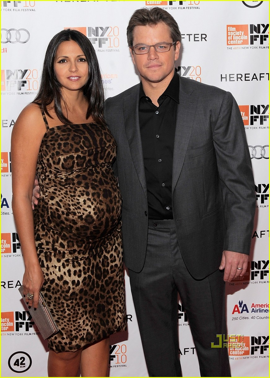 matt damon hereafter premiere with luciana 05