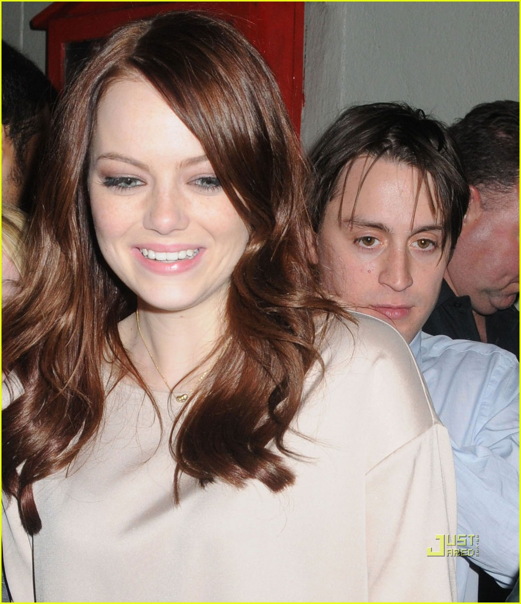 emma stone kieran culkin snl after party 01