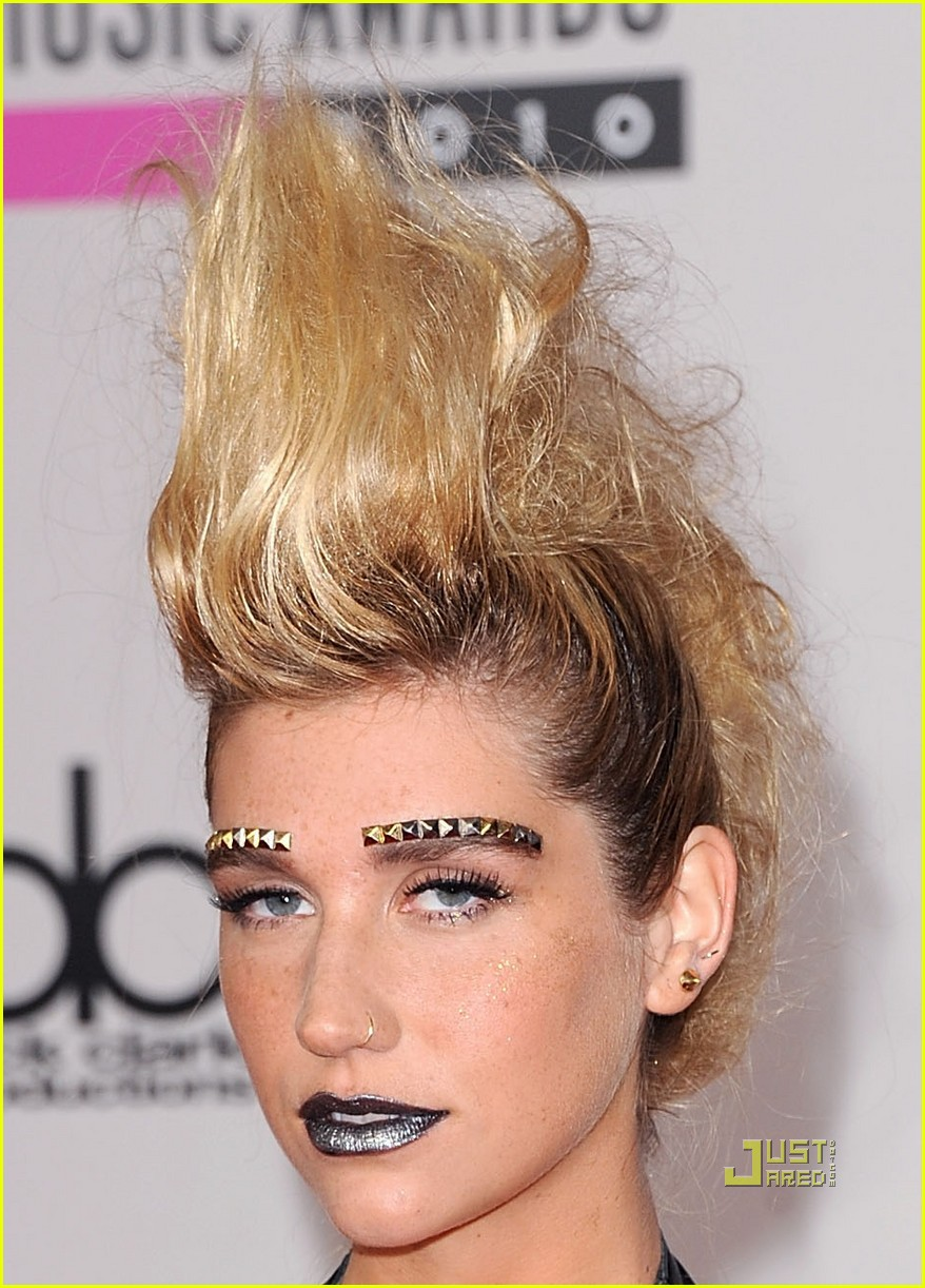 kesha amas studded eyebrows 01