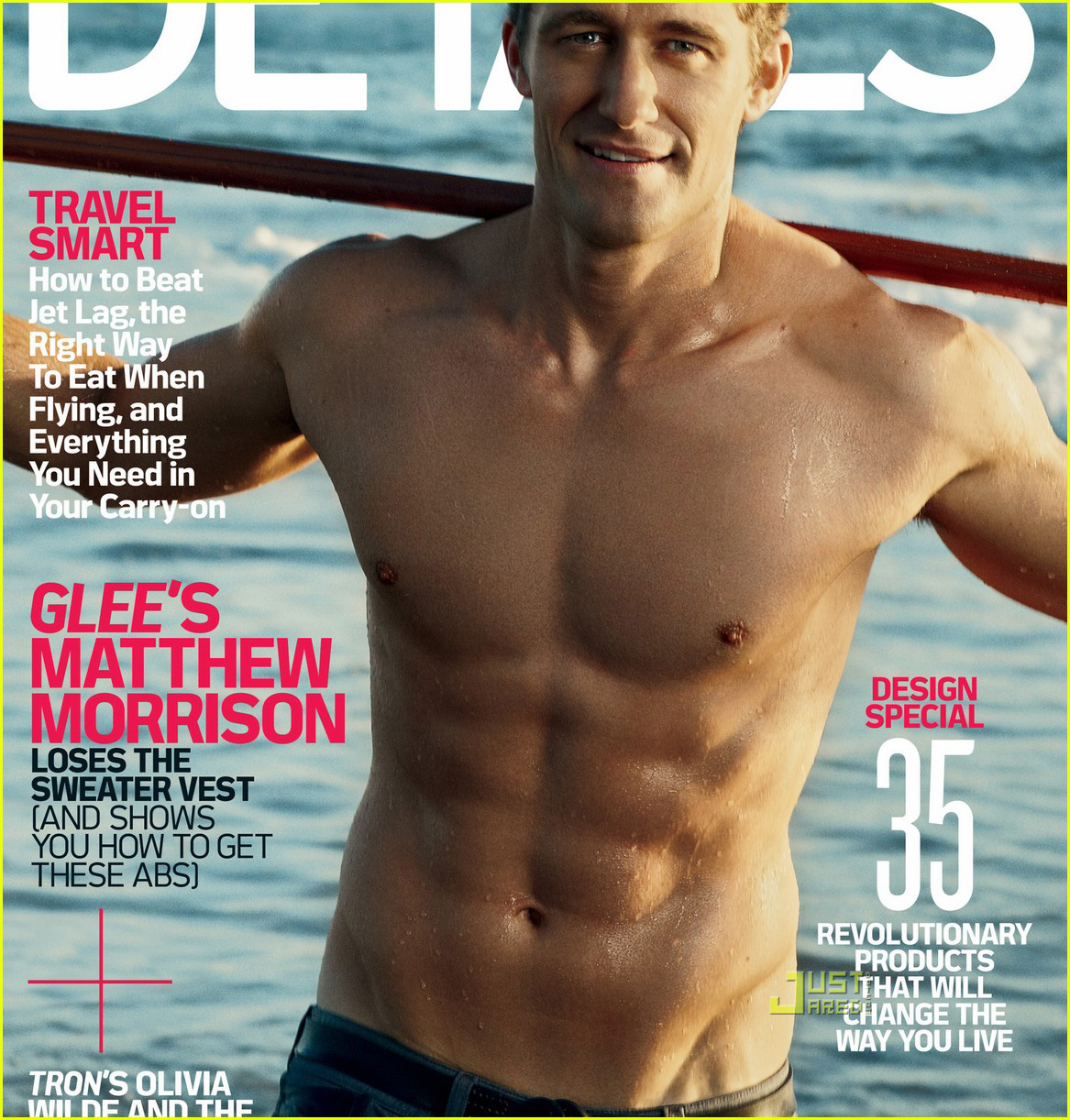 matthew morrison shirtless details cover 01