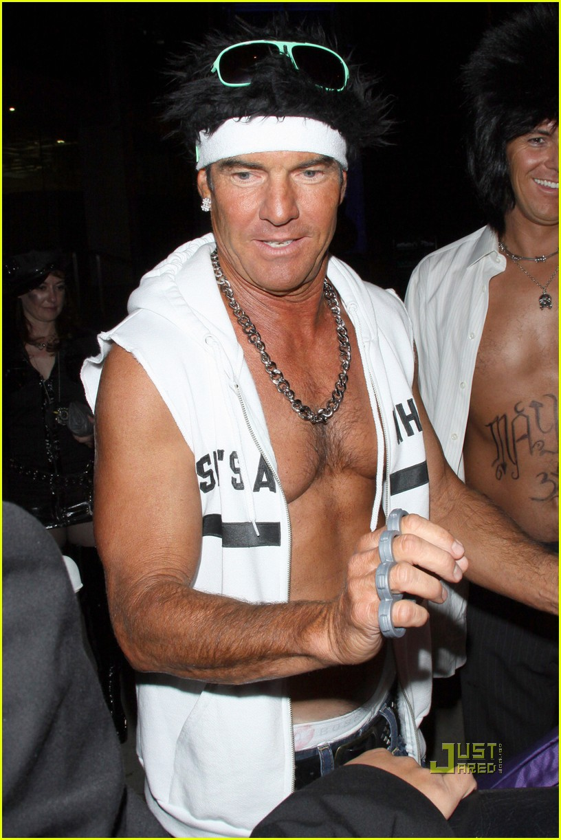 dennis quaid shirtless jersey shore guido for halloween 10