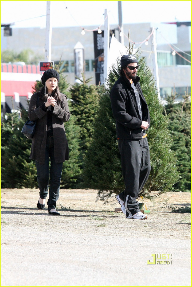 keanu reeves christmas tree shopping 172506386