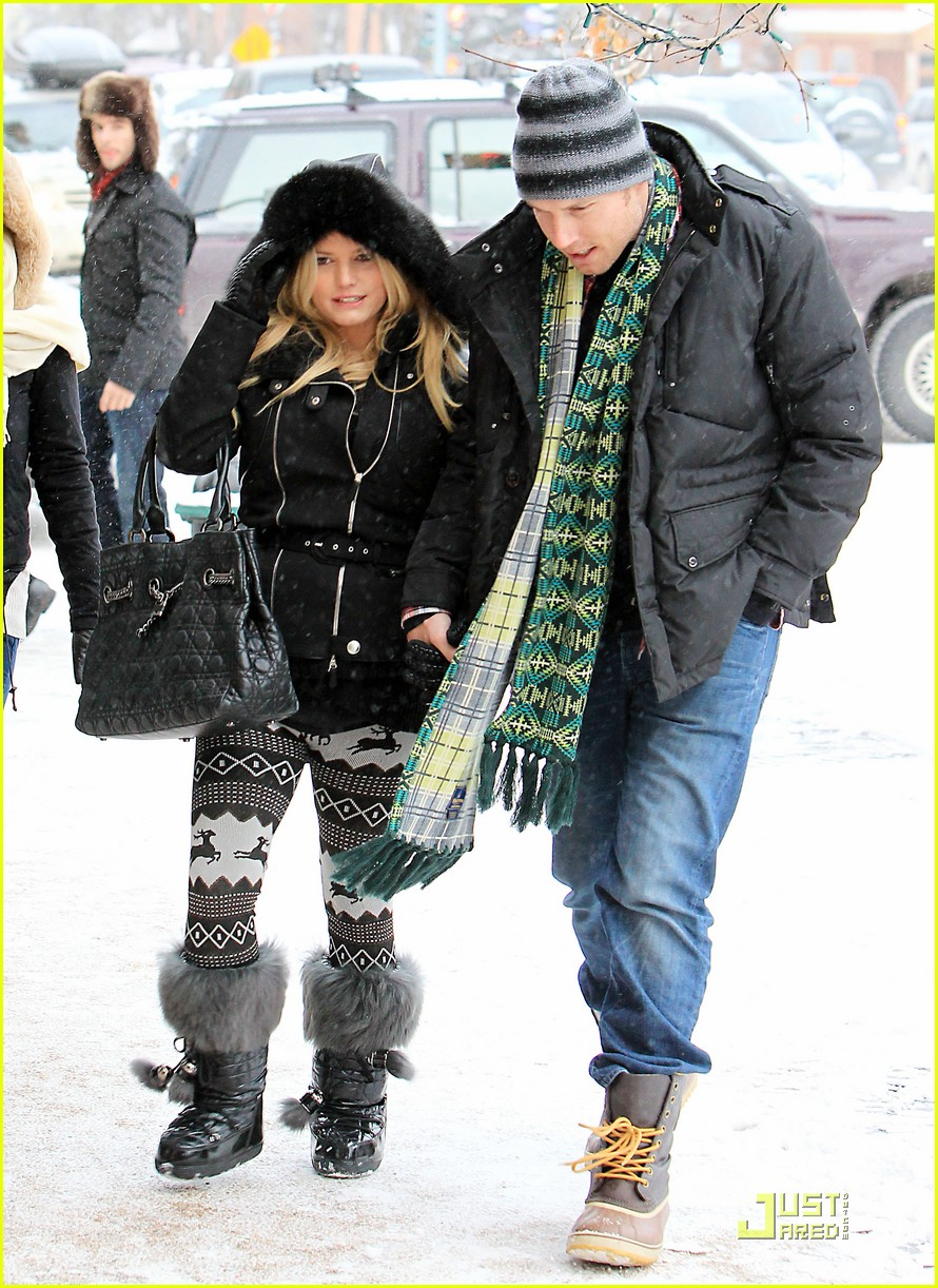 jessica simpson eric johnson snow 03