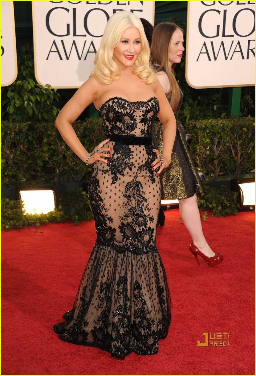 christina aguilera 2011 golden globes 11