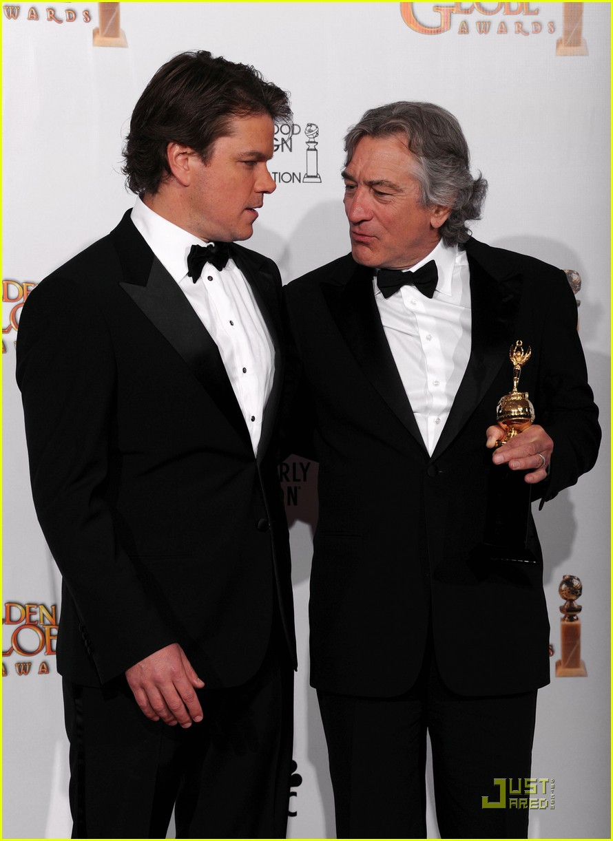 matt damon robert de niro golden globes 05