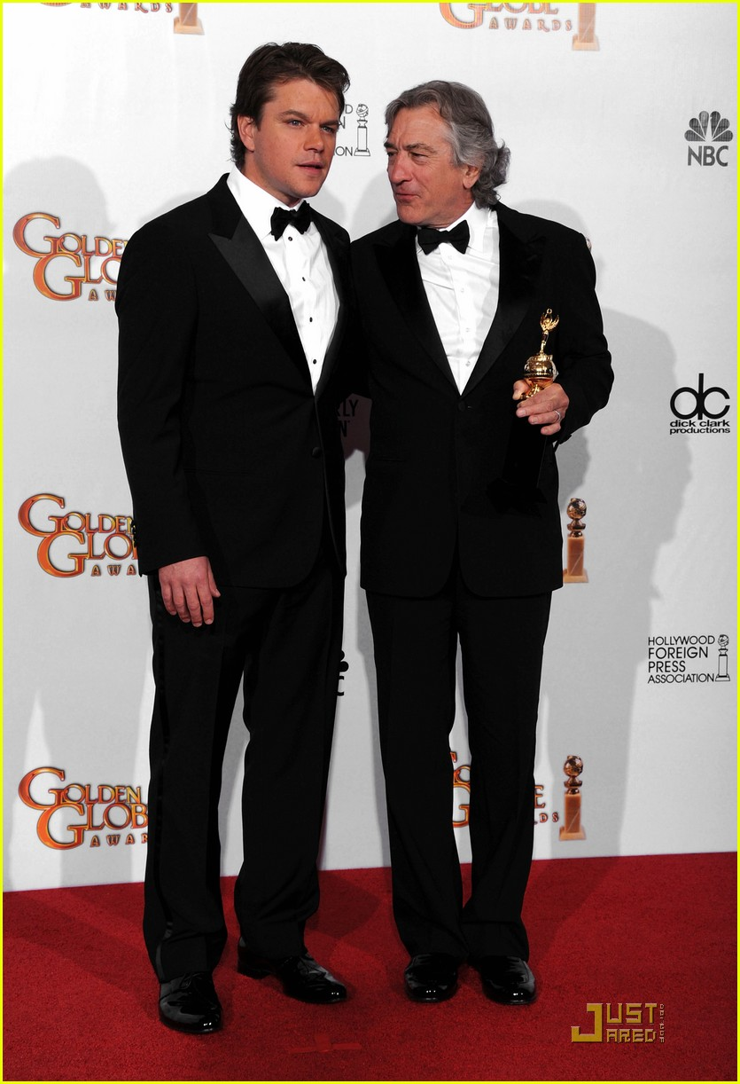 matt damon robert de niro golden globes 10