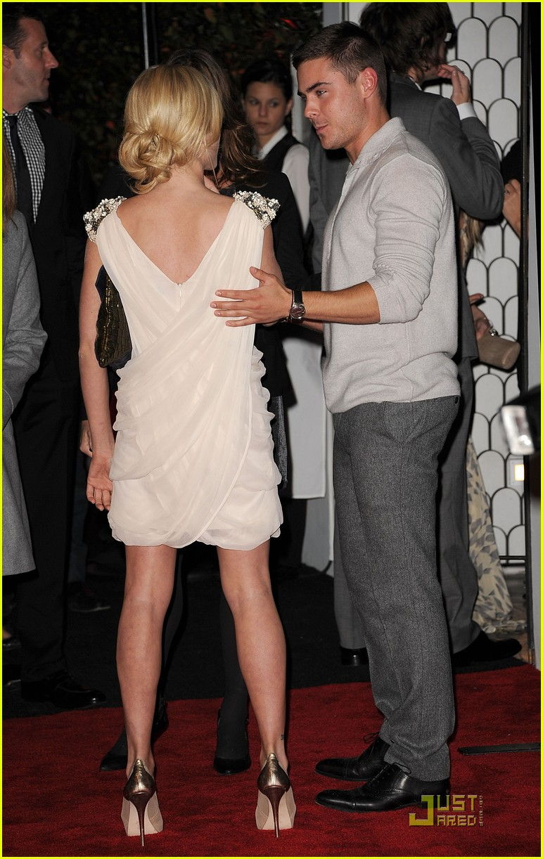 zac efron brittany snow audi golden globe party 05