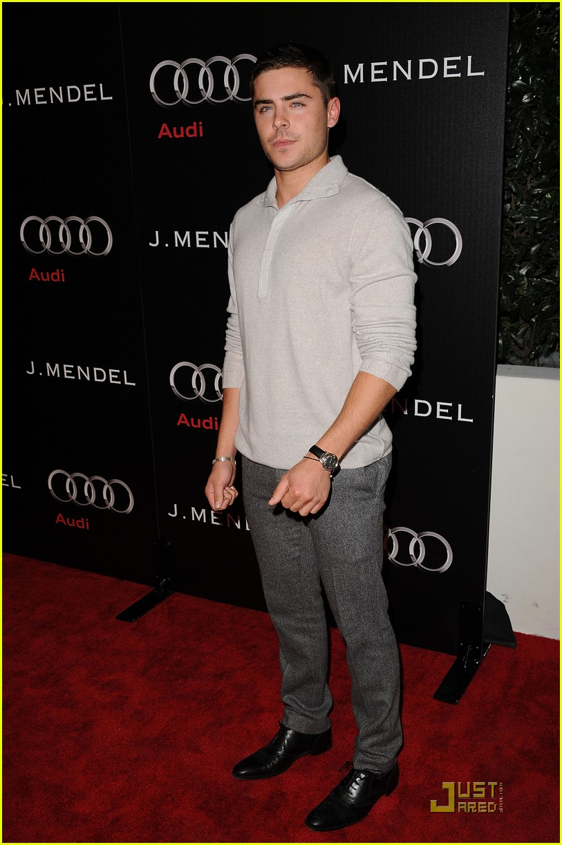 zac efron brittany snow audi golden globe party 13