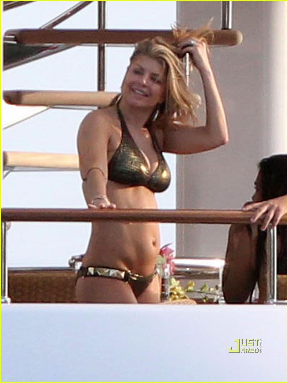 fergie gold bikini st barts 10