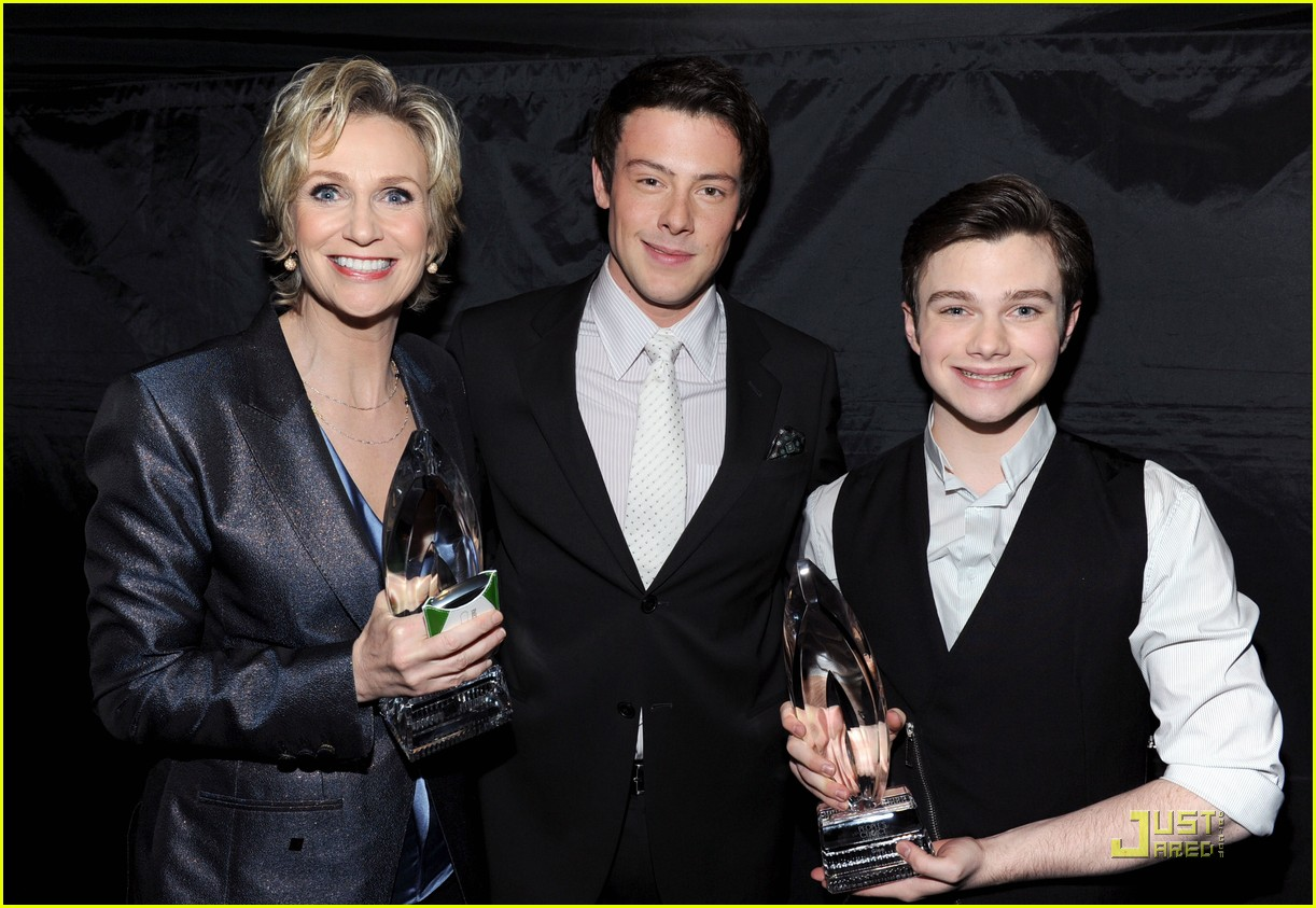 chris colfer cory monteith glee peoples choice 11
