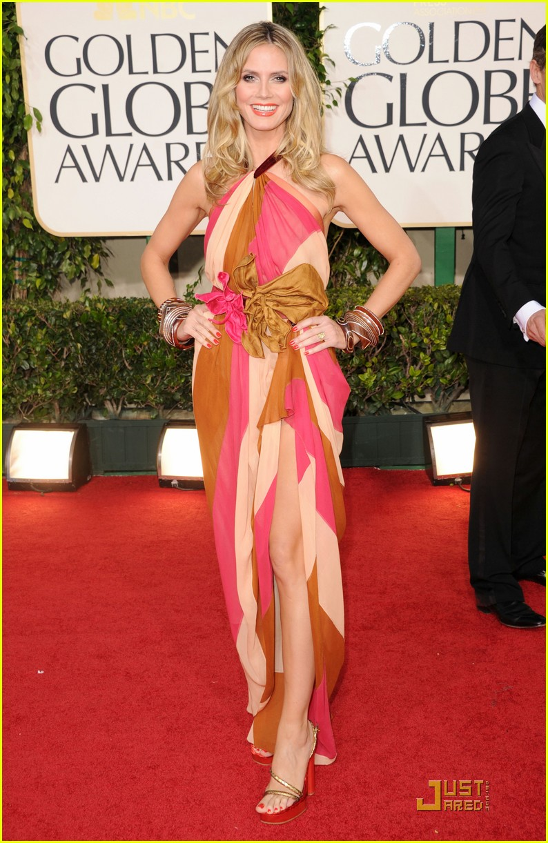 heidi klum seal golden globes 01
