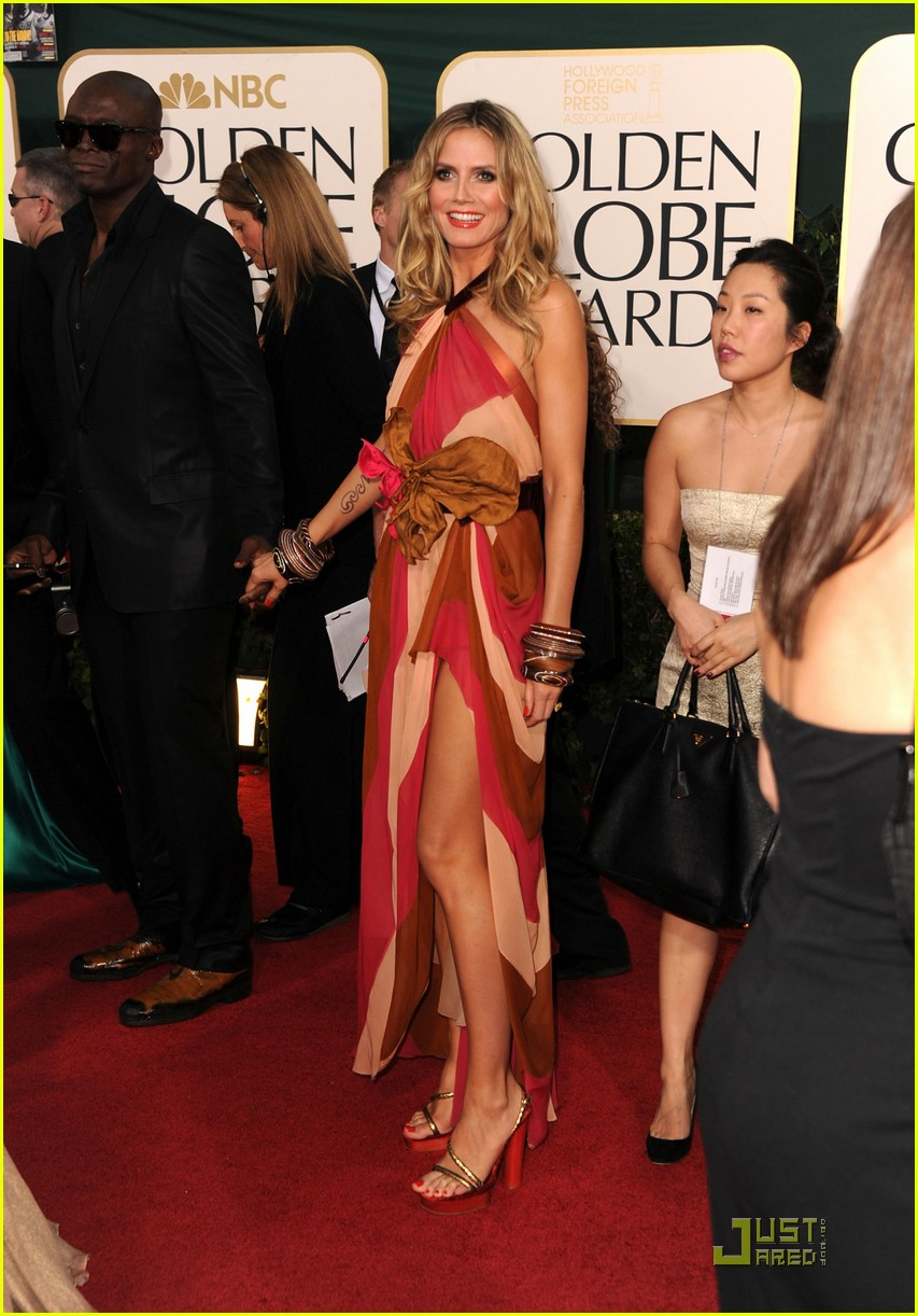 heidi klum seal golden globes 07