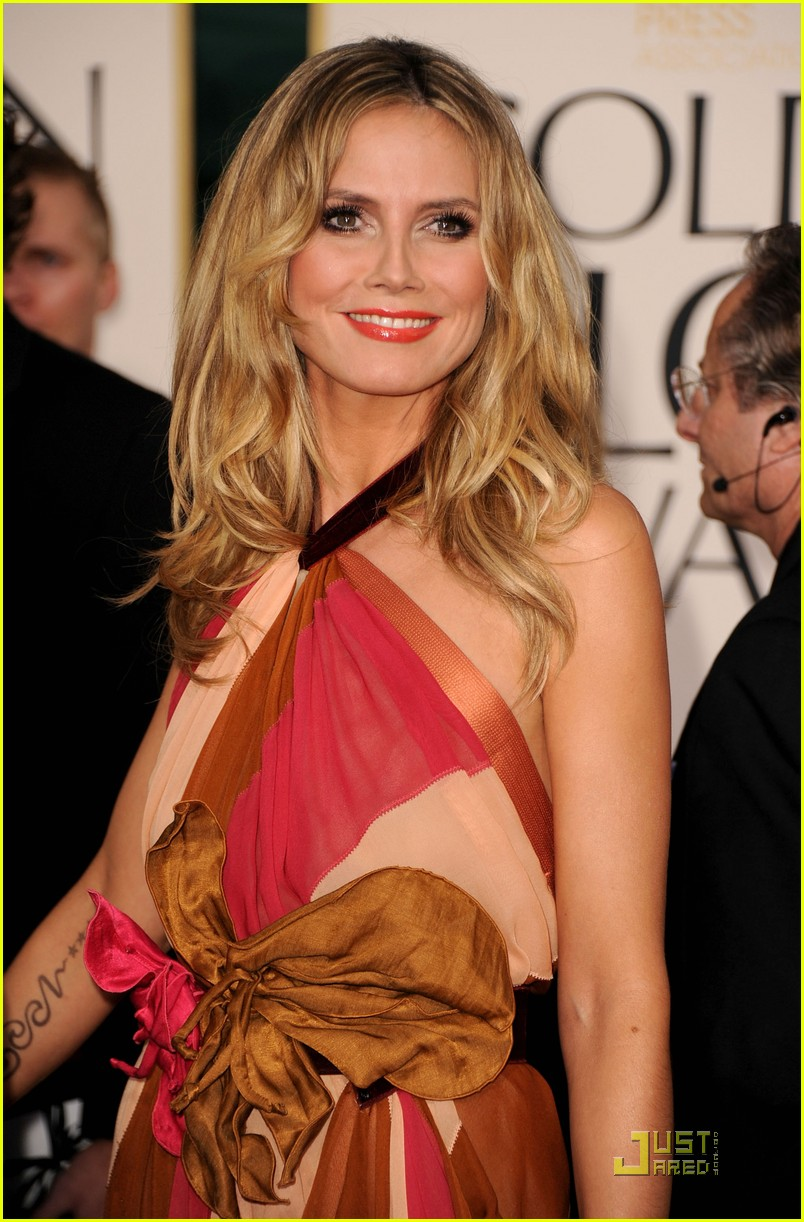 heidi klum seal golden globes 082512093