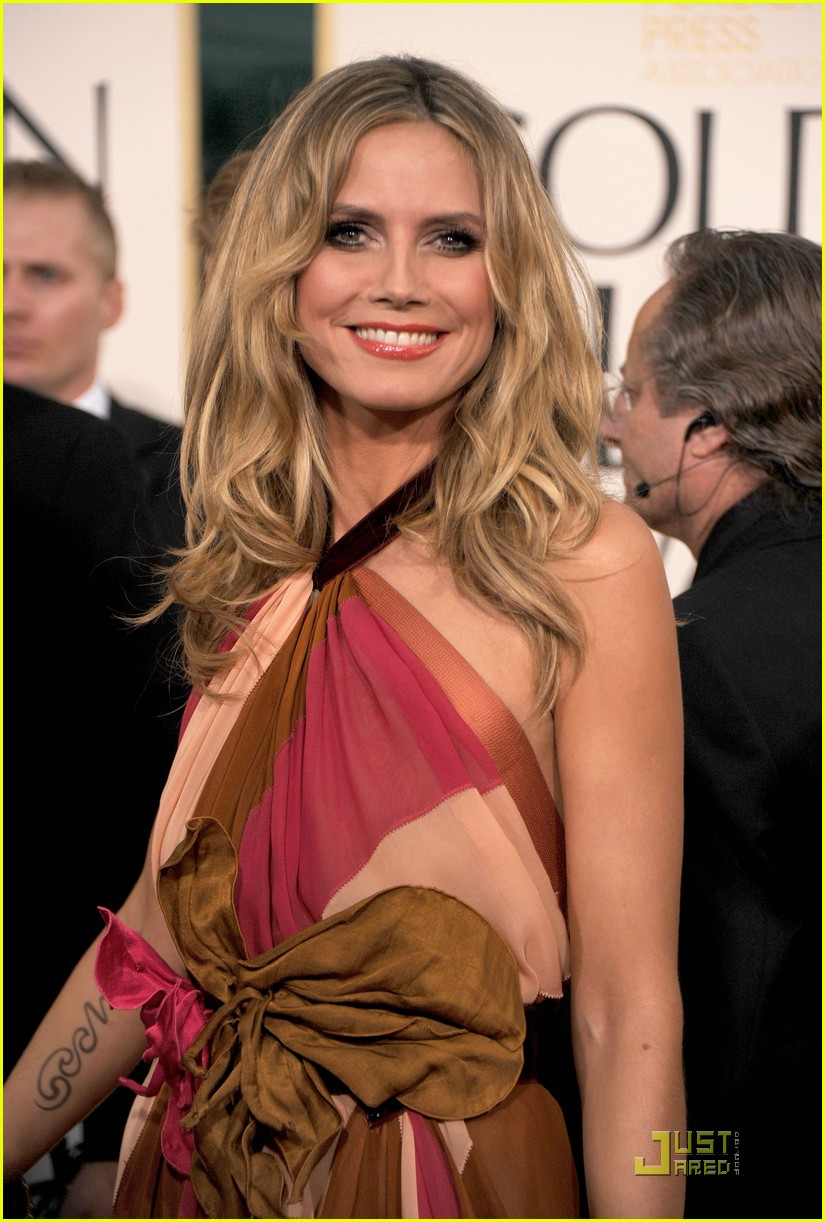 heidi klum seal golden globes 21
