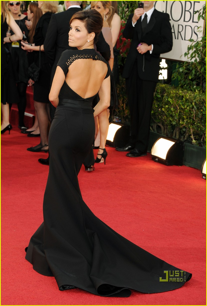 eva longoria 2011 golden globes red carpet 05