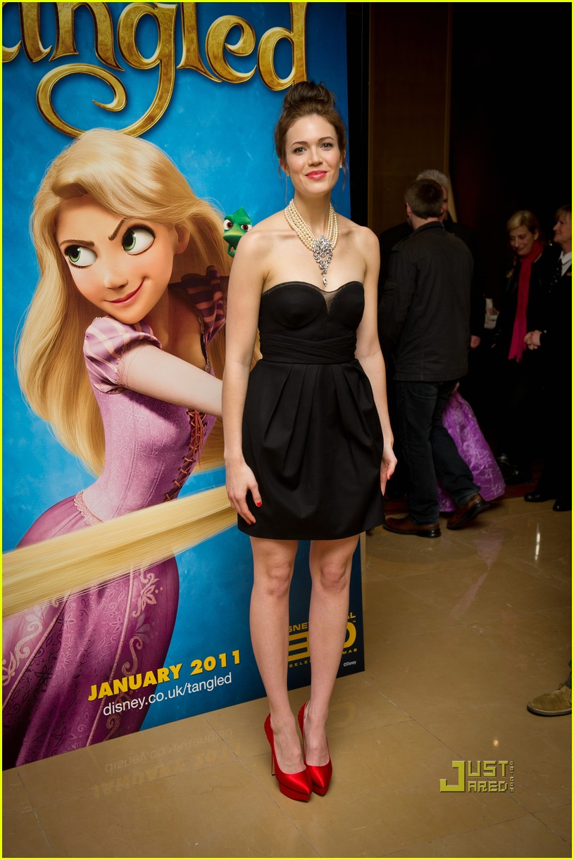 Mandy Moore: Topknot for 'Tangled' UK Premiere | Mandy Moore ...