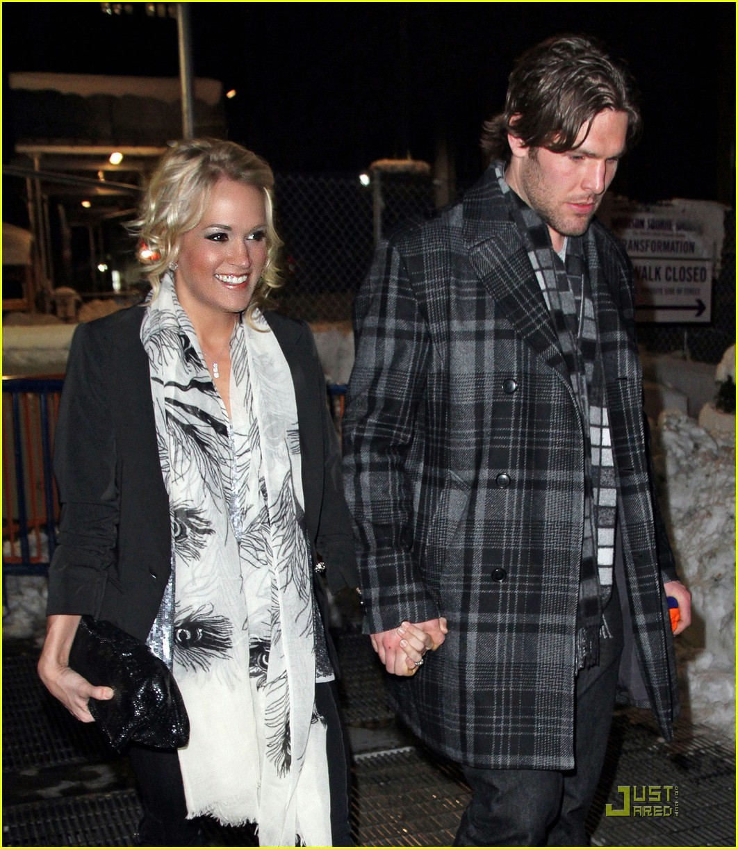 carrie underwood mike fisher knicks game nyc 042514793