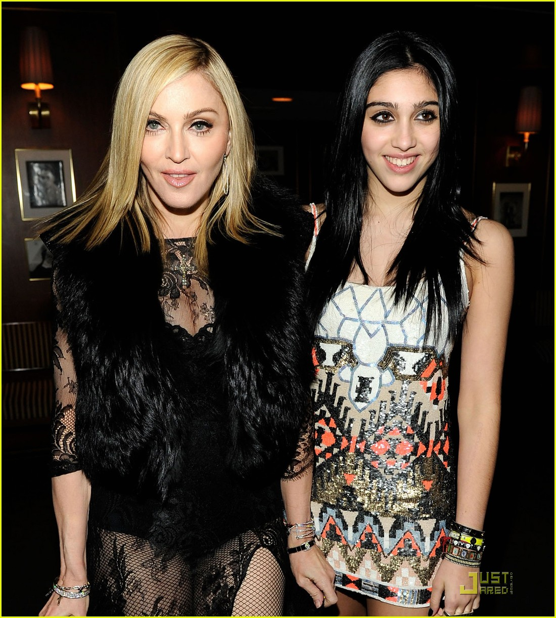 madonna lourdes leon vanity fair oscar party 07