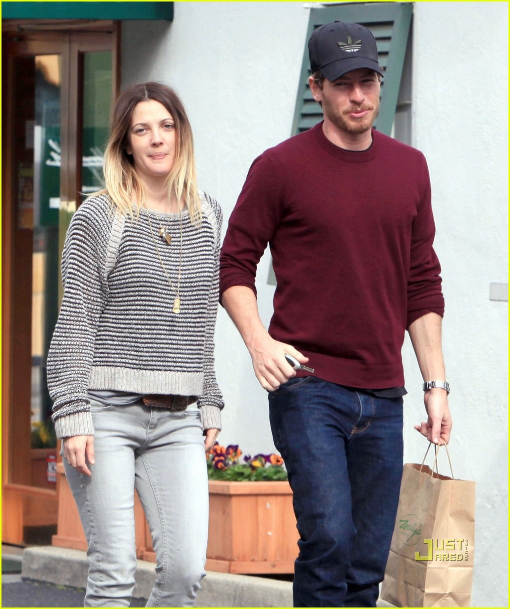 Drew Barrymore with cool, Husband Will Kopelman