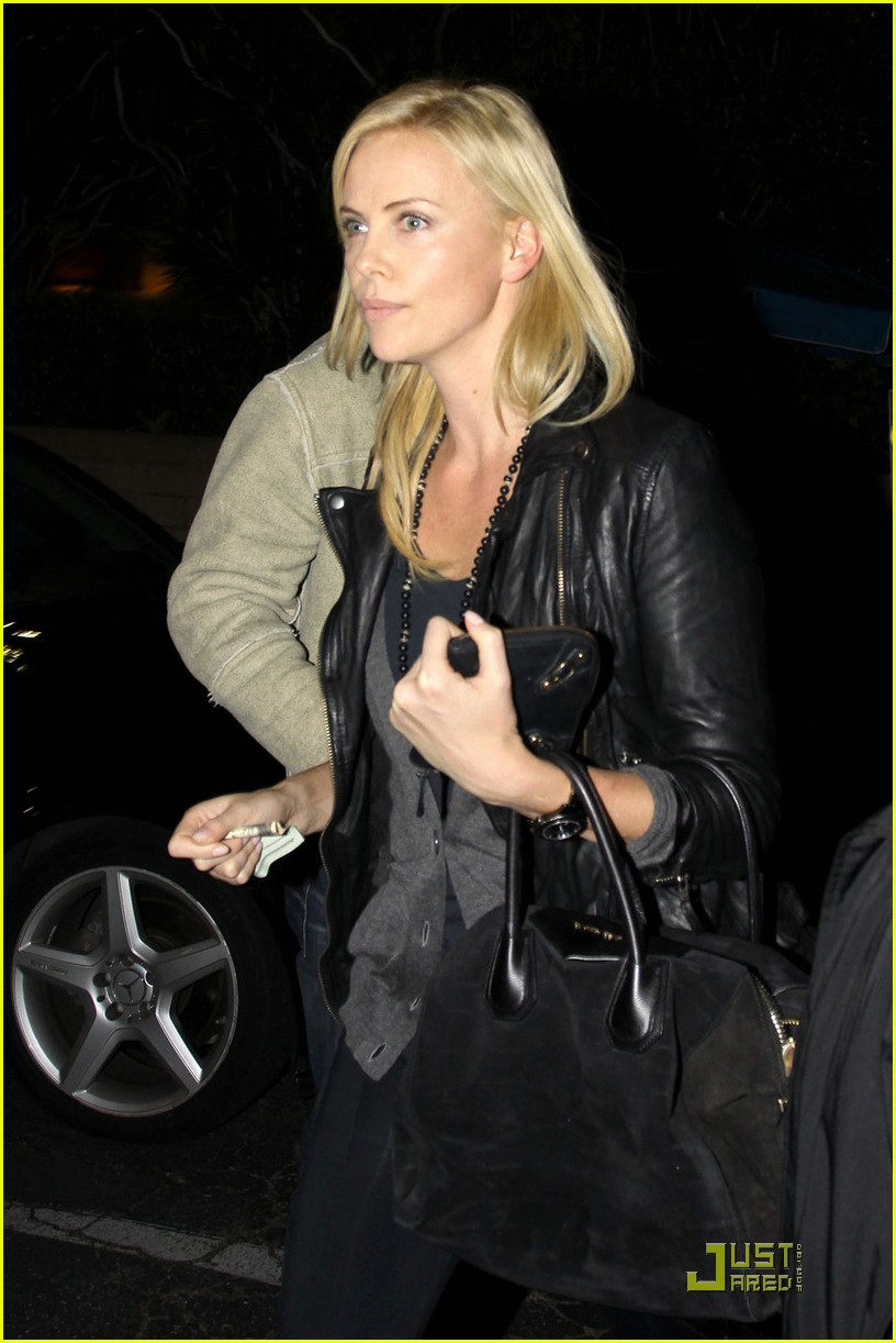charlize theron dines with a mystery male 062524479