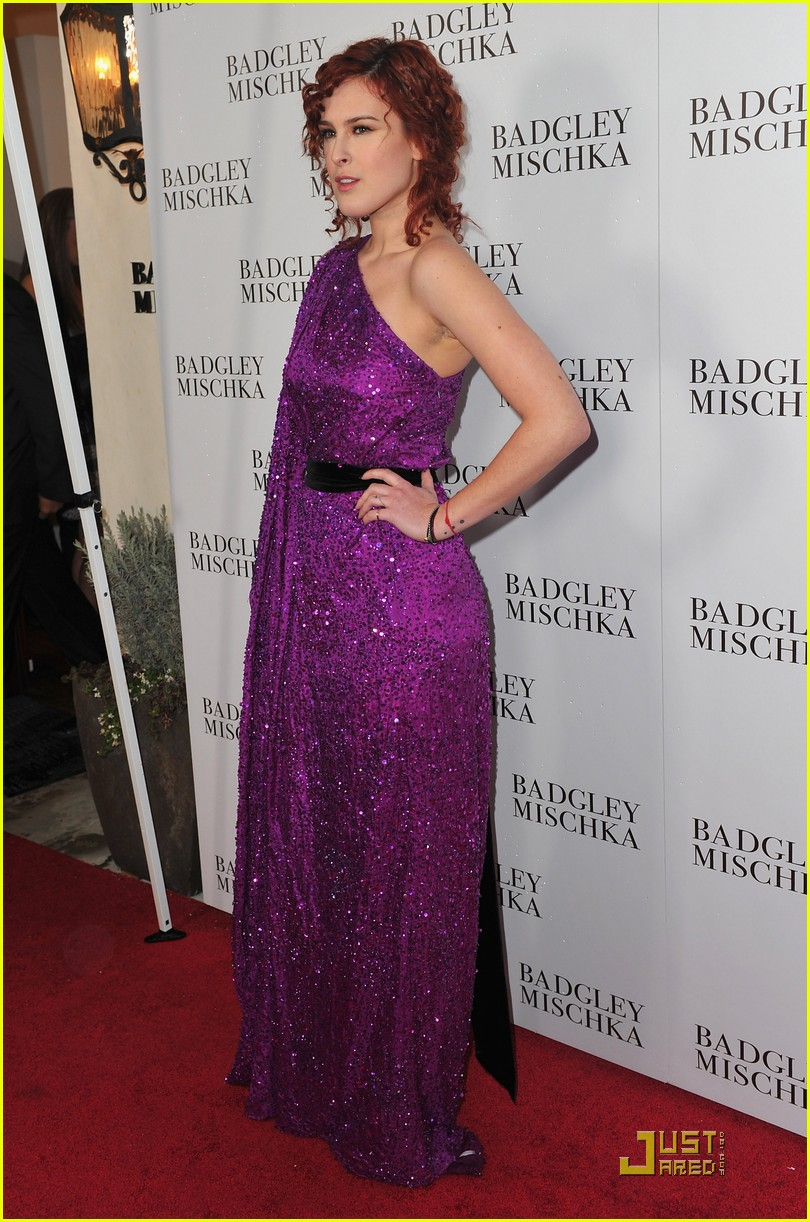 rumer willis badgley mischka flagship opening 07