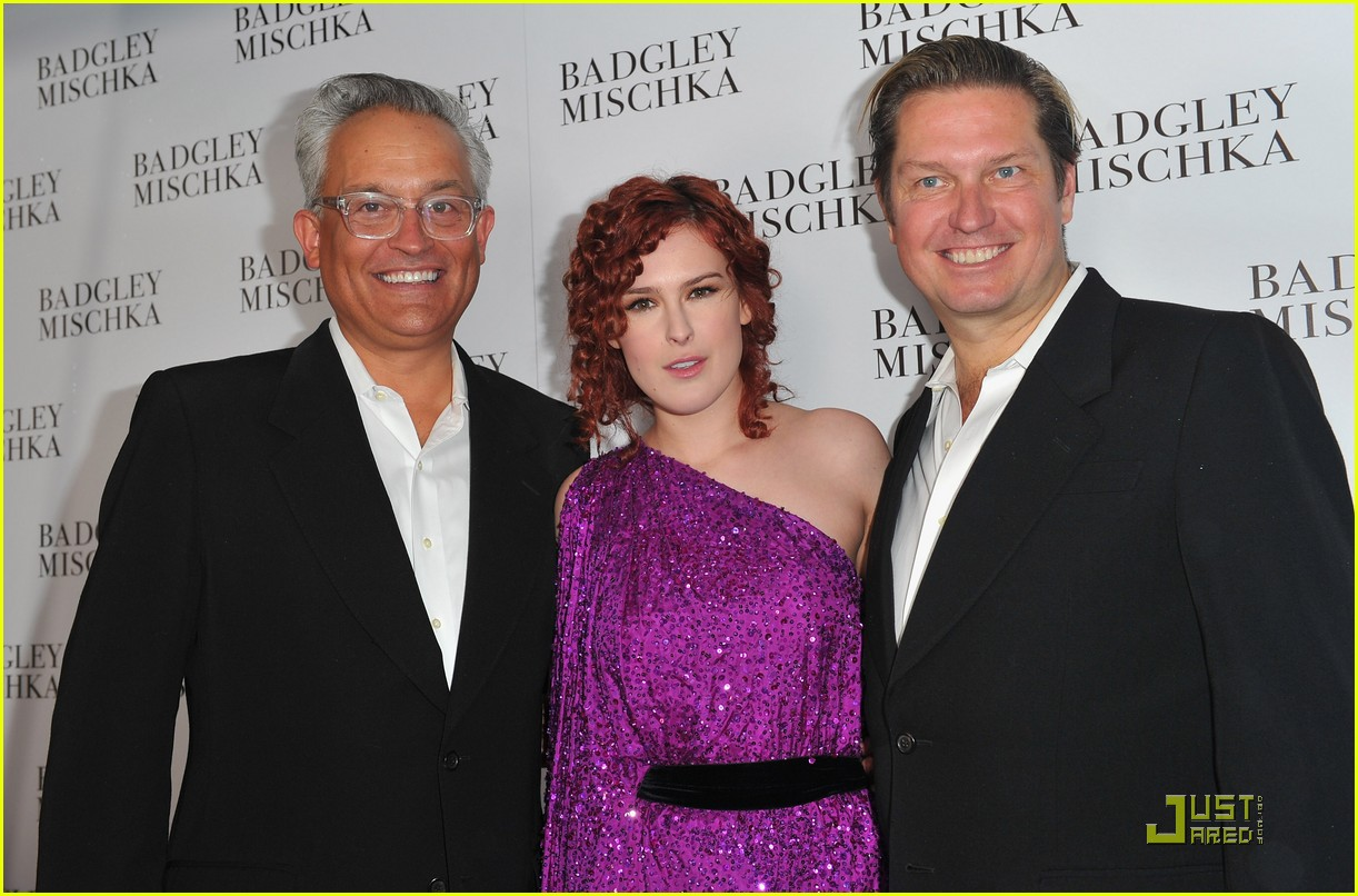 rumer willis badgley mischka flagship opening 14