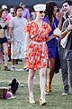 dita von teese orange dress coachella 08