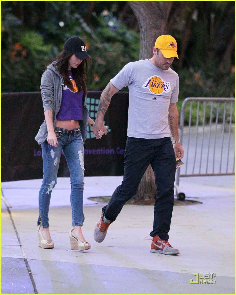 megan fox brian austin green lakers 07