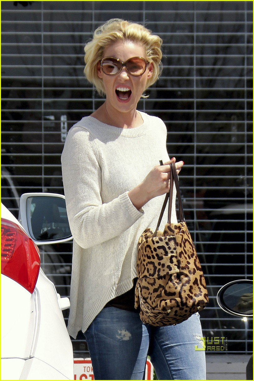 Full Sized Photo of katherine heigl funny face studio city ... Katherine Heigl