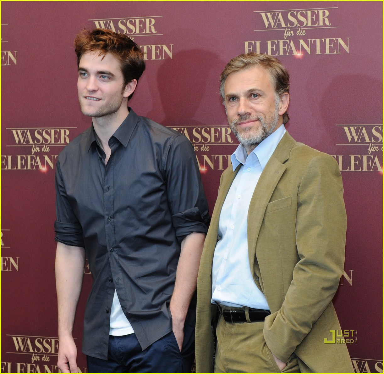 robert pattinson christoph waltz water for elephants photo call berlin 07