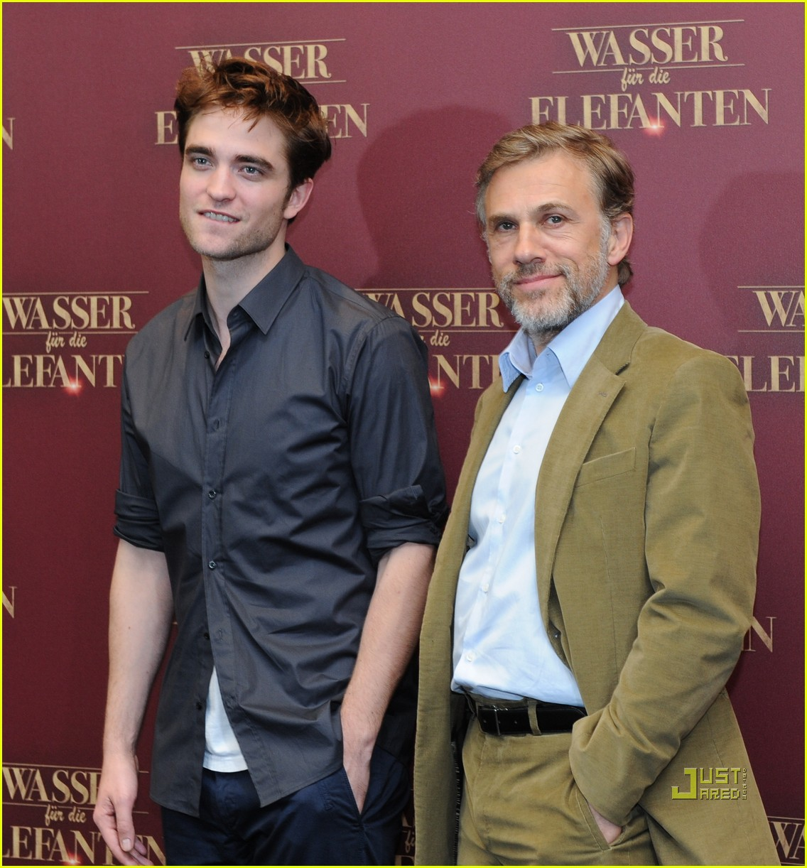 robert pattinson christoph waltz water for elephants photo call berlin 11