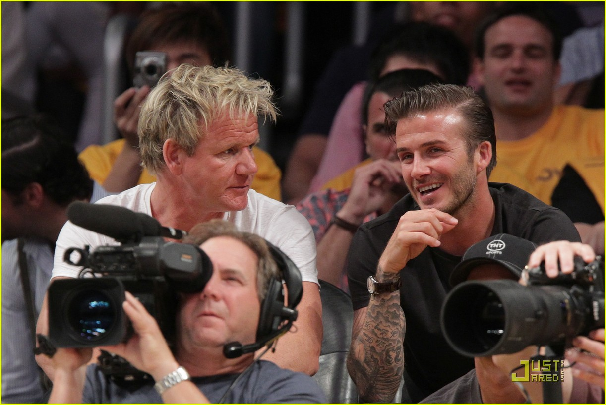 david beckham gordon ramsay watch the lakers lose 11