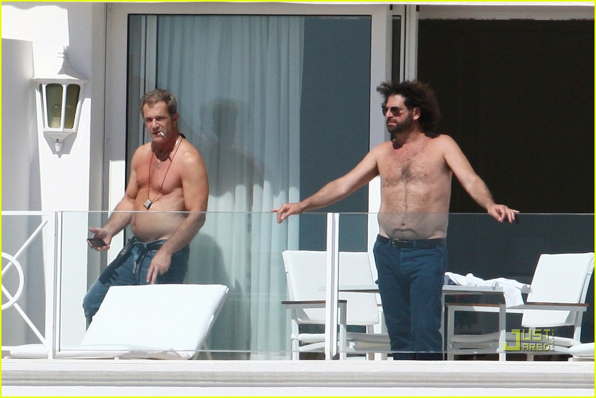 mel gibson shirtless cannes 022544886