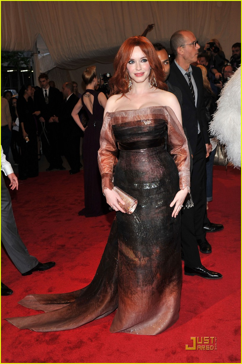 christina hendricks met ball 2011 03