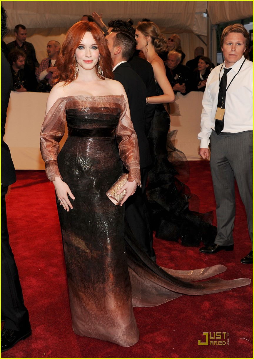 christina hendricks met ball 2011 07