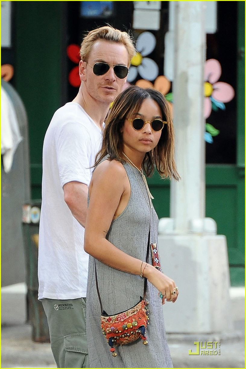 zoe kravitz michael fassbender new york city stroll 01