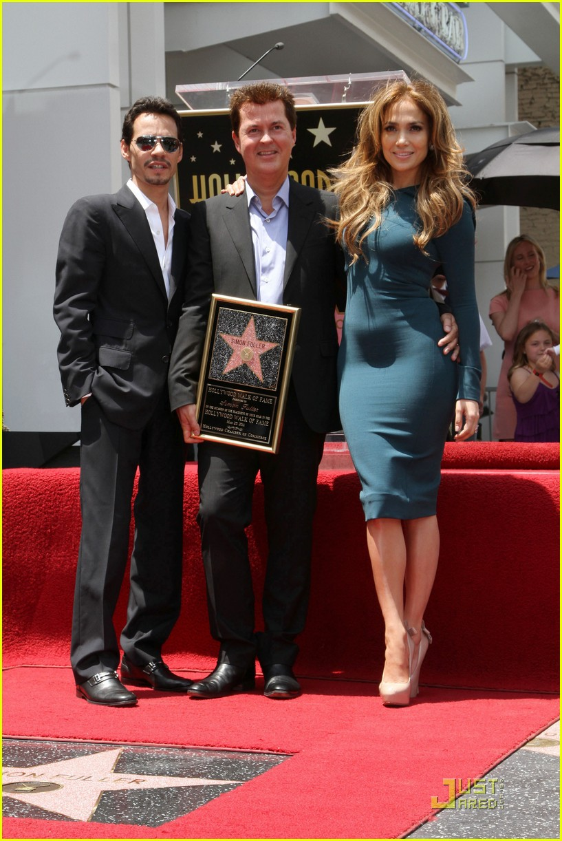 jennifer lopez simon fuller star walk fame 01