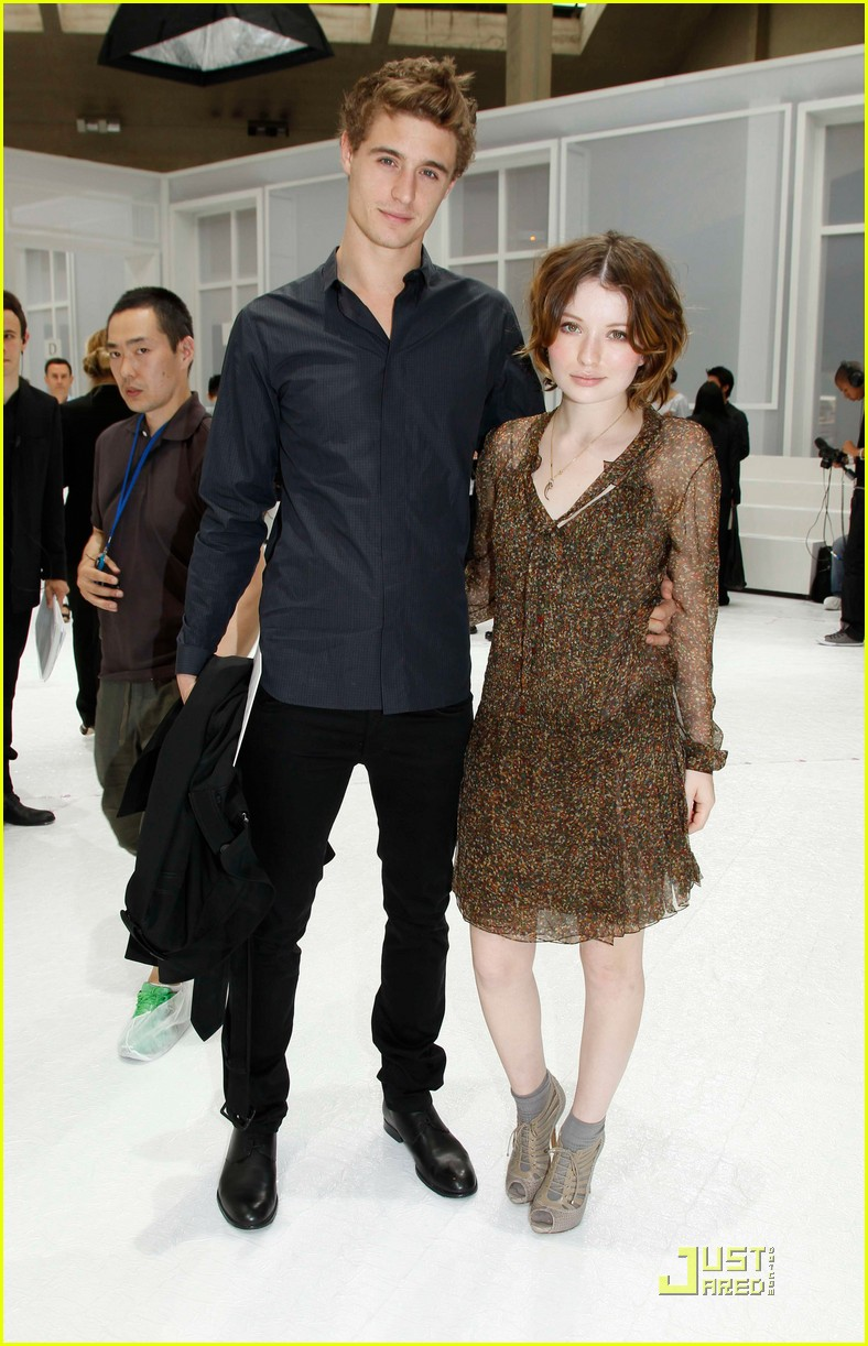 Full Sized Photo of emily browning max irons dior homme ...