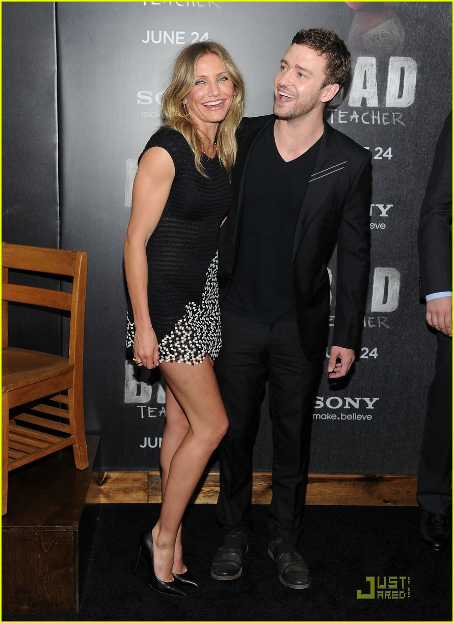 cameron diaz justin timberlake bad teacher premiere 02
