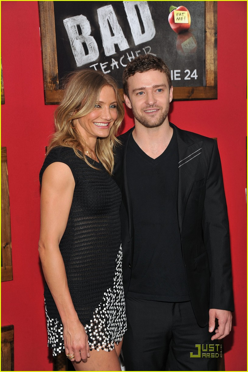 cameron diaz justin timberlake bad teacher premiere 072554026